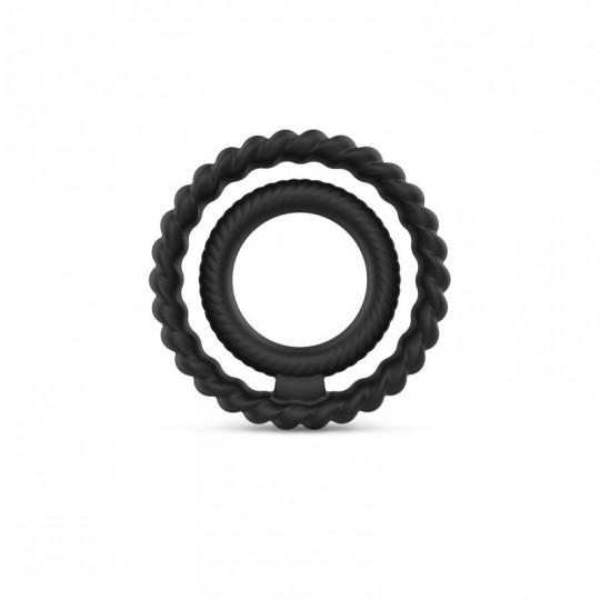 Cockring Dual ring Dorcel - Noir
