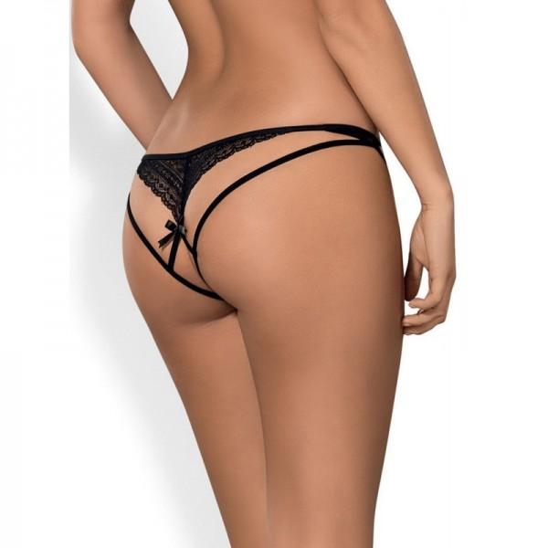 Picantina String Ouvert - Noir
