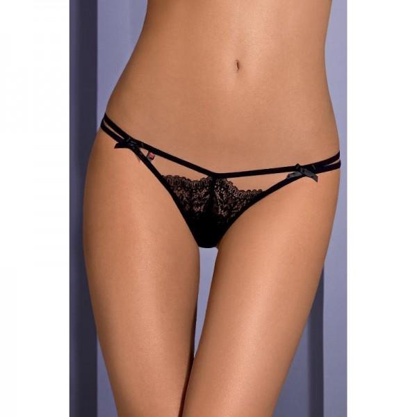 Intensa String Double Lanière - Noir