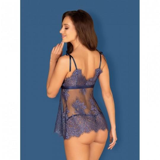 Flowlace Babydoll - Bleu