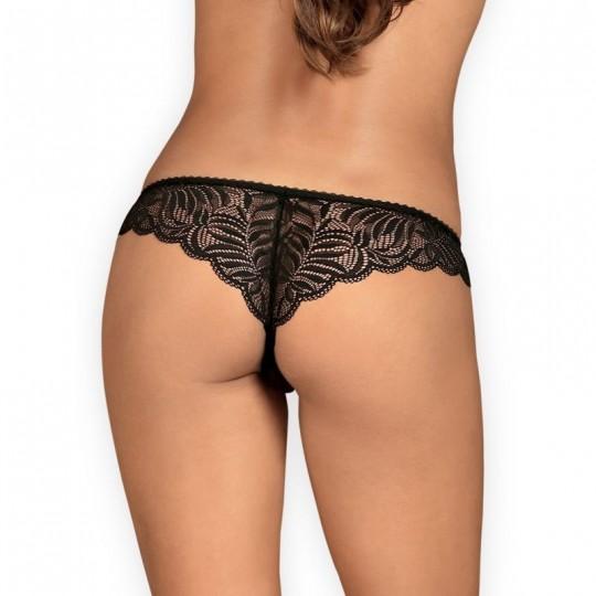 Contica Tanga ouvert - Noir
