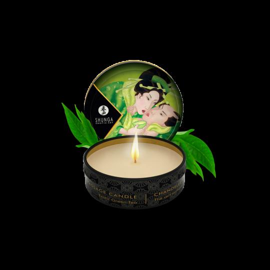 Mini bougie de massage - Thé vert Exotique