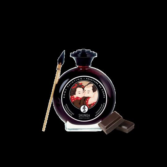 Peinture de corps embrassable - Chocolat noir